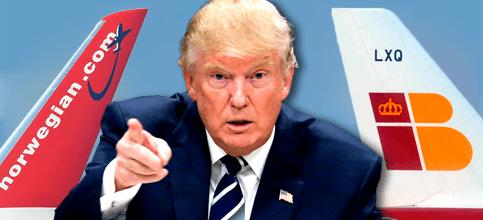 Foto de Trump irrumpe en la carrera de IAG y Norwegian por el bajo coste en EEUU